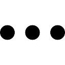 Más símbolo interfaz de botón de tres puntos alineados horizontales