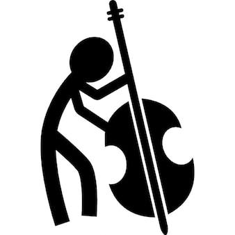 Masculino violonchelo jugando