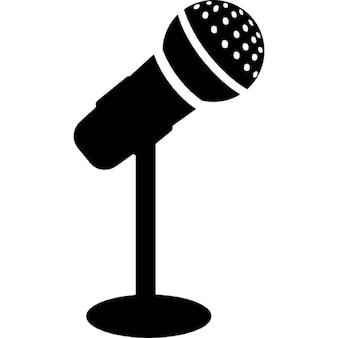Micrófono para un cantante o una conferencia