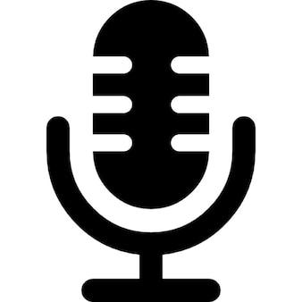 Micrófono símbolo interfaz de voz