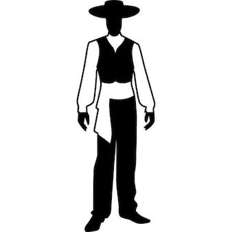 Modelo masculino del flamenco