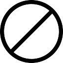 Muestra de la prohibición