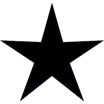 Negro de la estrella de cinco puntos