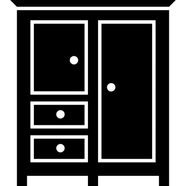 negro del dormitorio cerrada armario para la ropa