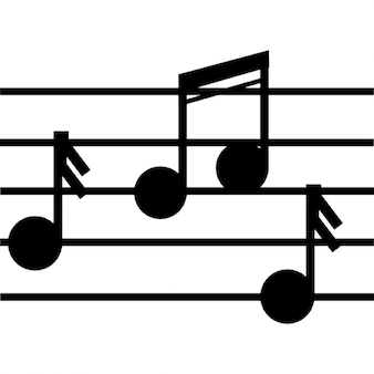 Notación musical de la clase de música
