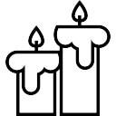Ornamento de Halloween velas joven esbozado