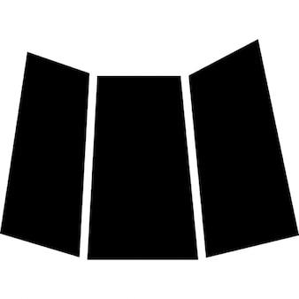 Papel doblado negro impreso