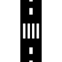 Paso de peatones de la calle urbana de la visión superior