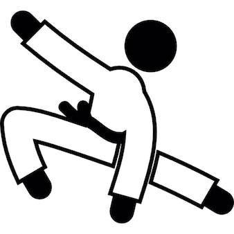 Persona que practica judo