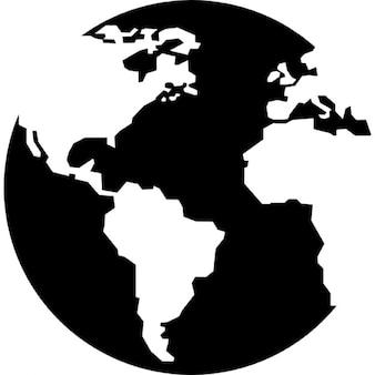 Planeta tierra con mapas continentes
