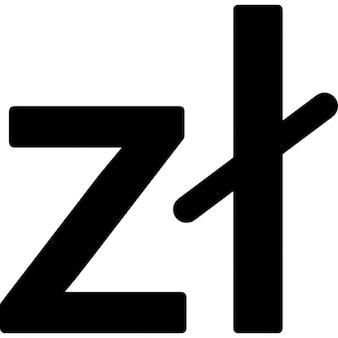 Polonia símbolo de moneda zloty