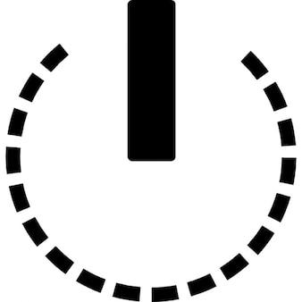 Potencia símbolo circular de la línea rota círculo