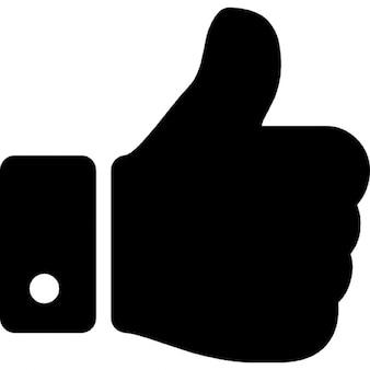 Pulgar hacia arriba símbolo de la mano