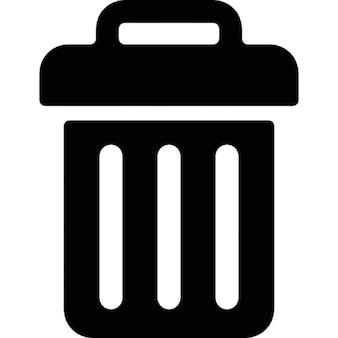 Recycle bin forma del contenedor