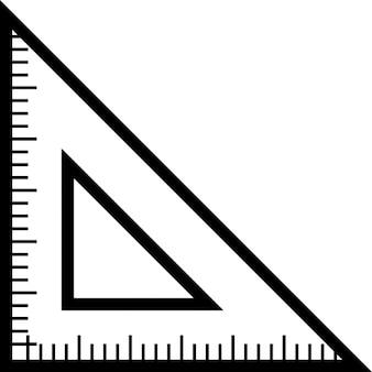 Regla triangular para la escuela