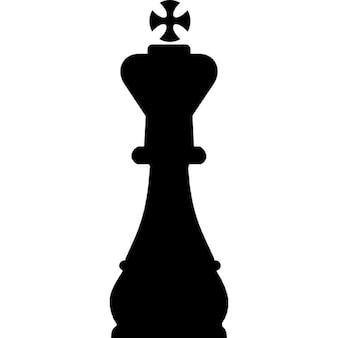 Rey pieza de ajedrez forma