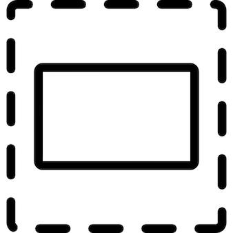 Selección de elementos con línea discontinua