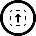 Selección Subir botón circular