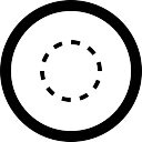 Seleccione círculo con botón circular