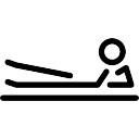 Side Kick Postura tirado en el suelo