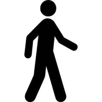 Silueta de un hombre que camina