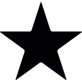 Silueta estrella señalada