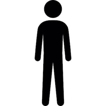 Silueta humana de altura