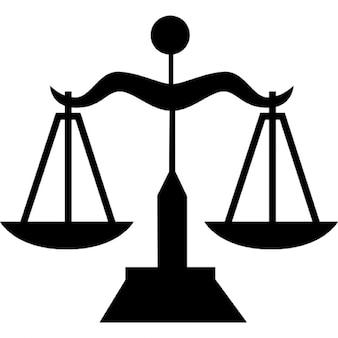 Símbolo de equilibrio escala libra