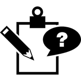 Símbolo de la clase cuestión nota