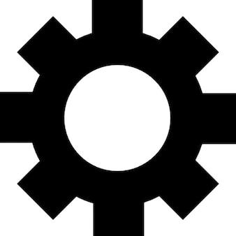 Símbolo de la interfaz de engranajes para la configuración