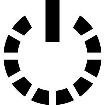 Símbolo de poder con el círculo de una línea quebrada