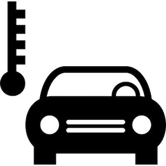 Símbolo de temperatura del coche