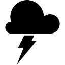 Símbolo de tiempo Tormenta de una nube oscura con un rayo