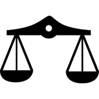 Símbolo del zodiaco escala equilibrada libra