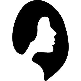 Símbolo peluquería femenina