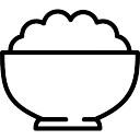 Tazón de arroz blanco