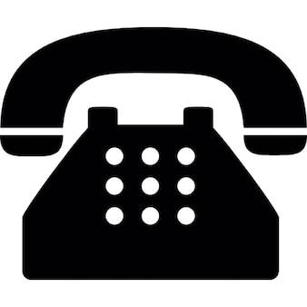 Teléfono antiguo típico