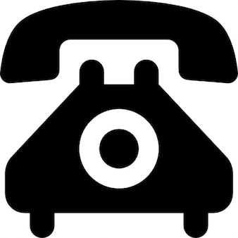 Teléfono con línea, estilo vintage
