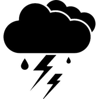 Tormenta, ios símbolo interfaz 7 para el clima