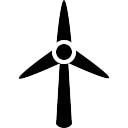 Turbina de viento silueta