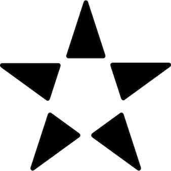 Variante de forma de estrella con cinco triángulos y puntos