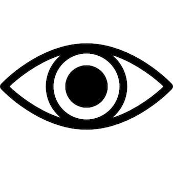 Variante de ojo con pupila agrandada