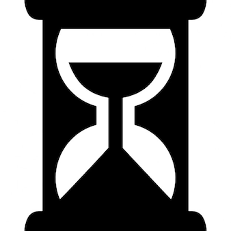 Variante de reloj de arena símbolo para los negocios