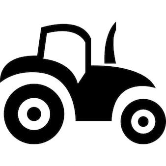Vista lateral del tractor