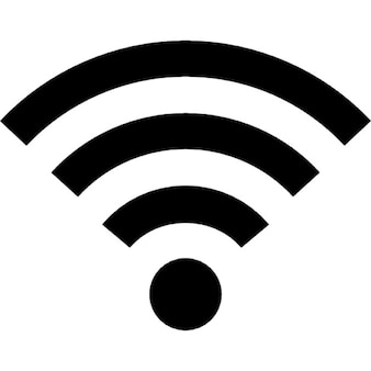 Wifi símbolo señal media
