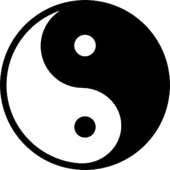 Yin yang símbolo variante