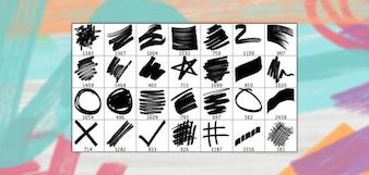 25 Haute Résolution Brosses Marker