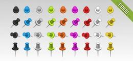36 Push Pins gratuit