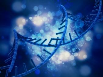 3D fond médical avec abstrait brin d'ADN
