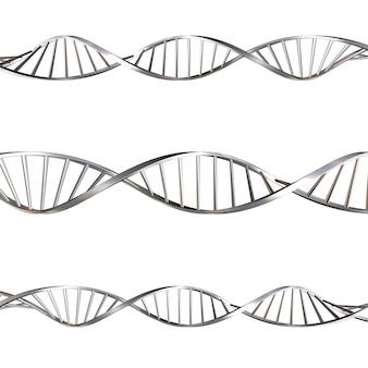 3D rendu des brins d'ADN